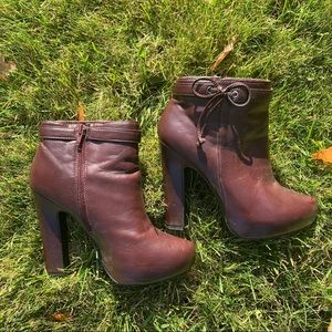 Just Fab Faux Leather Booties